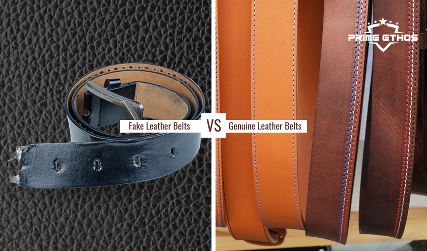 Ways to Recognize Genuine Leather Belts from a Fake One